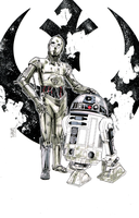 Artoo and Threepio by Hodges-Art