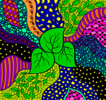 Collab with KatAhrens_Zentangle Leaves by PurpleTartan