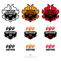 triplesix couture logos by fizzgig