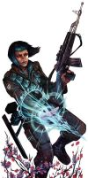 Shadowrun Amerind Woman by Corbella