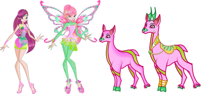 Winx 7: Roxy and her Fairy doe/antelope by Gerganafen