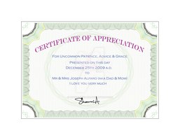 Certificate of Appreciation by revolverkiller