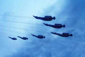 Divers in the Sky by mancerqueen