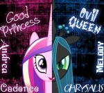 The Princess Cadence And The Queen Crysalis by AndreaSemiramis