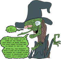 Witch Dialogue by EggHeadCheesyBird