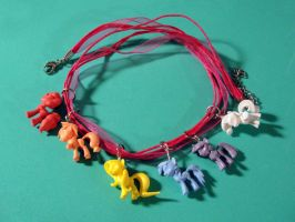Tiny Pony Charm Bracelet by silverbeam