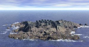 Walled Island:  Bryce Terrain. by RavynsWorld