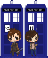 Doctor Who bookmark: 10 + 11 by 0-Xarla-0
