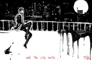 And the city melts. by BlackHerz