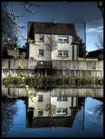 House at the pond 2 by luzifersdaughter