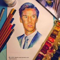 Portrait of Benedict Cumberbatch by lazy-brush
