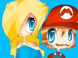 mario and rosalina by BluePeriwinkle