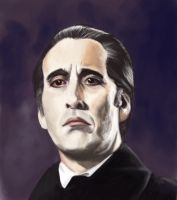 Christopher Lee by MonsieurMal