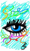 Blue Eye Abstract by Icoliveira