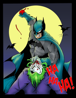 Batman VS The Joker - Colors by BIG-D-ARTiZ