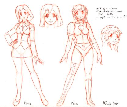 Penny-Pulsar Pureheart character design preview by Dangerman-1973
