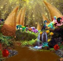 Psychedelics Running Thru The Ice Cream Forest by surreal1st1cp1llow