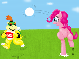 Bowser jr and Pinkie Pie by Sedna93