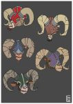 Horned Animals Heads by EO88