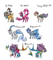 Zodiac ponies Part 2 auction. - clossed- by OfficerMittens