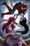 Bubblegum and Marceline by kellymckernan