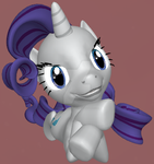 PonyLumen - Lil' Miss Rarity (Without Scars) by AncientEchidna