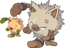057 - Primeape - Art v.2 by Tails19950