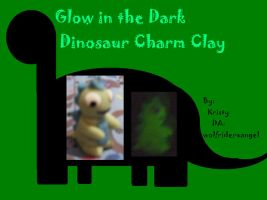 Glow in the Dark Clay Dino by Wolfriderxangel