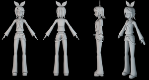 Rin Kagamine - modelisation by MrSide