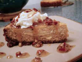 Pumpkin Cheesecake with Pecan praline topping by beanphotogi