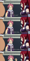 Fairy Tail 160 - NaLu Shower Moment by pikagirl3