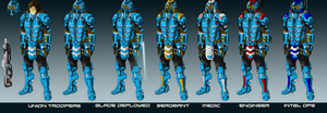Union Basic Infantry by EmperorMyric
