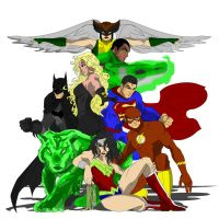 Justice League from Teen Titans by JTmovie