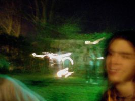 Blurred Fire Dancers by Yve4882