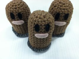 amigurumi digletts by NerdStitch