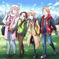 USA,UK,RUSSIA,CHINA/from HETALIA by sena1923