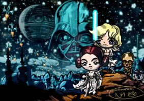 Star Wars Episode IV Chibified by MeowMowRaa