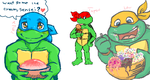 TMNT p-chat Ice Cream by theblindalley