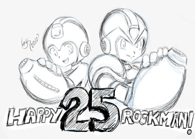 Happy 25 Rockman! by Locke3K