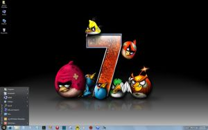 Windows 7 on Delilah - Angry Seven Birds by slowdog294