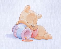 Baby Pooh watercolour by ShaneMadeArt