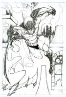 Batman pag 1 pencil by mdavidct