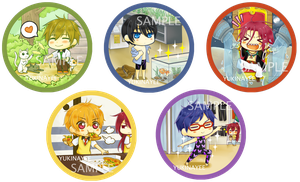 FREE! :: Random Cute Moments Badges by yukinayee
