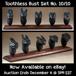 Toothless Bust Set 10, Now Available on eBay! by emilySculpts