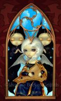 Angel with a Psaltery by jasminetoad
