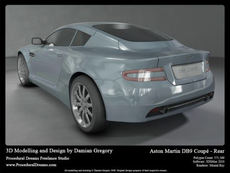 Aston Martin DB9 Coupe Rear by heretik66