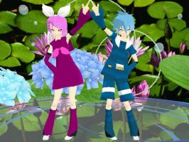 MMD Newcomers Valentines Day Kagamine Twins by Xeno-Fan-Jinusa