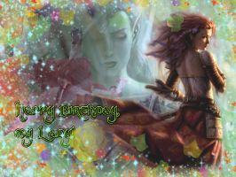 Happy Birthday, Aribeth 2010 by Lirulin-yirth
