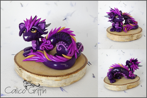Oriental Cayo Dragon - polymer clay by CalicoGriffin