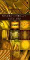 Golden abstract textures by DiZa-74